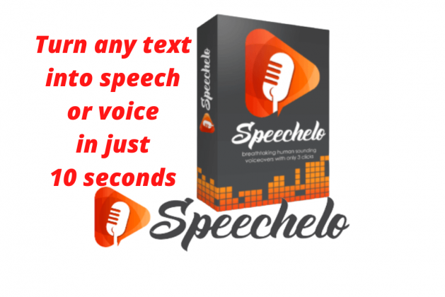 SPEECHELO – TURN ANY TEXT INTO SPEECH OR VOICE IN JUST 10 SECONDS